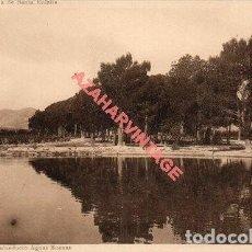Postales: ALICANTE COLONIA DE SANTA EULALIA ( ENTRE SAX Y VILLENA ) ACUEDUCTO AGUAS BUENAS, BALSA RIEGO. Lote 269579823