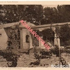 Postales: ALICANTE COLONIA DE SANTA EULALIA ( ENTRE SAX Y VILLENA ) AZUDA Y ACUEDUCTO SOBRE EL VINALOPO. Lote 269579973