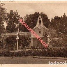 Postales: ALICANTE COLONIA DE SANTA EULALIA ( ENTRE SAX Y VILLENA ) PARTERRE DE LA IGLESIA. Lote 269580278
