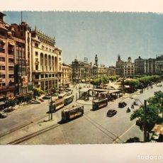Postales: VALENCIA. POSTAL NO.10, ANIMADA TRANVÍAS. PLAZA DEL CAUDILLO. EDIC, MACIAN (A.1960) S/C. Lote 269686403