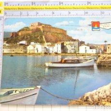 Postales: POSTAL DE ALICANTE. AÑO 1967. DENIA CASTILLO Y PUERTO PESQUERO 3181 PERGAMINO. 1519. Lote 269719183