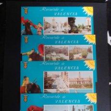 Postales: LOTE DE 4 POSTALES DE RECUERDO DE VALENCIA. VALENCIA.. Lote 270097668