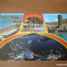 Postales: ALICANTE - BELLEZAS DE LA CIUDAD (ESCRITA Y CIRCULADA). Lote 270556678