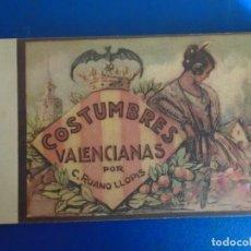 Postales: (PS-65959)BLOCK DE 10 POSTALES COSTUMBRES VALENCIANAS POR C.RUANO LLOPIS. Lote 271822233