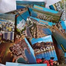 Postales: LOTE 17 POSTALES DE BENIDORM. ALICANTE. Lote 297174118