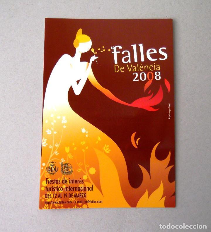 POSTAL, CARTEL FALLAS, AÑO 2008, ESTADO PERFECTO, SIN CIRCULAR. (Postales - España - Comunidad Valenciana Moderna (desde 1940))