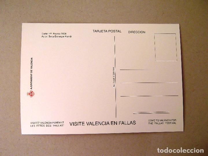 Postales: POSTAL, CARTEL FALLAS, AÑO 2008, ESTADO PERFECTO, SIN CIRCULAR. - Foto 2 - 274596298