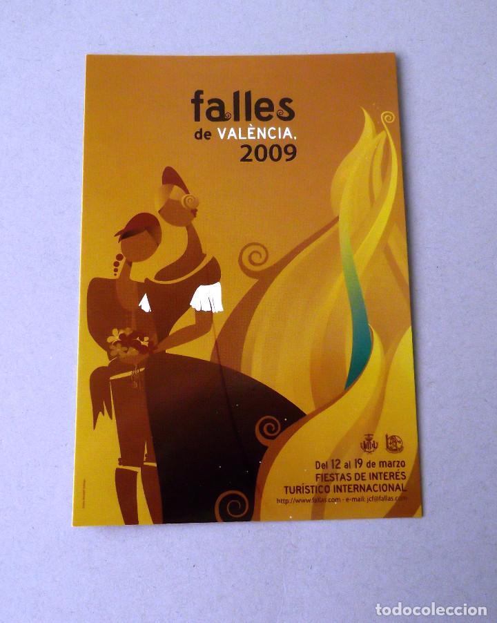 POSTAL, CARTEL FALLAS, AÑO 2009, ESTADO PERFECTO, SIN CIRCULAR. (Postales - España - Comunidad Valenciana Moderna (desde 1940))