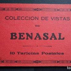 Postales: CARPETA CON 5 ANTIGUAS POSTALES DE BENASAL, VER FOTOS Y COMENTARIOS. Lote 274876243