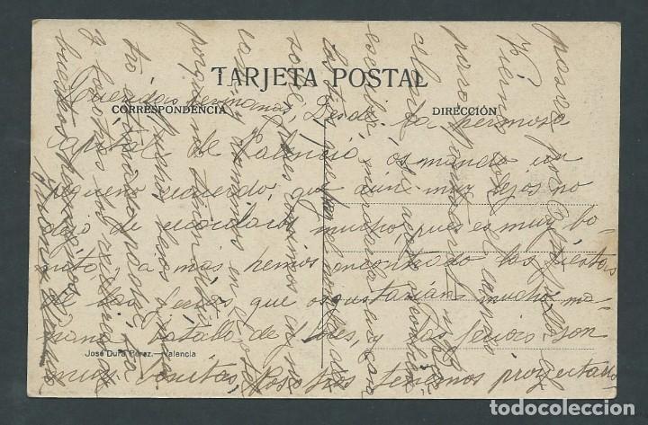 Postales: antigua postal valencia palacio municipal circulada año 1921 - Foto 2 - 276198453