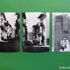 Postales: MORELLA, CASTELLON - 3 FOTOGRAFIAS DEL ARCHIVO CUYAS, VER FOTOS ADICIONALES. Lote 276438233