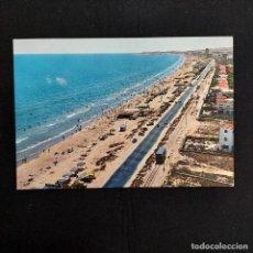 Postales: POSTAL ALICANTE. SAN JUAN VISTA GENERAL DE LA PLAYA 1. CIRCULADA 1968. CHIRINGUITO, TRANVIA. RARA. Lote 276913968