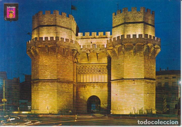 VALENCIA TORRES DE SERRANOS 1980 POSTAL CIRCULADA (Postales - España - Comunidad Valenciana Moderna (desde 1940))