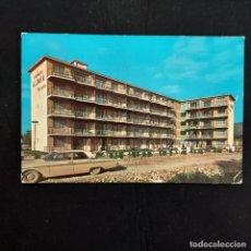 Postales: POSTAL BENIDORM. APARTAMENTO ALLONAYA (ALICANTE). CIRCULADA 1967. RUECK. RARA. Lote 277067508