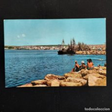 Postales: POSTAL SANTA POLA. PUERTO (ALICANTE). ESCRITA 1966. BONMATI 1965. Lote 277175908