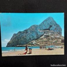 Postales: POSTAL CALPE. PLAYA LEVANTE Y PEÑON IFACH (ALICANTE) CIRCULADA 1965. GALIANA Nº 15. Lote 277189188