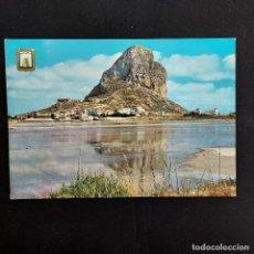 Postales: POSTAL CALPE. PEÑÓN DE IFACH Y SALINAS (ALICANTE) CIRCULADA 1963. SUBIRATS Nº 2. Lote 277189778
