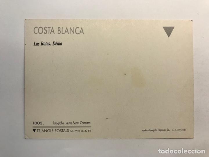 Postales: DENIA (Alicante) Postal No.1003 Las Rotas. Triangle Postals. Foto Jaume Serrat ….., S/C - Foto 2 - 277197338