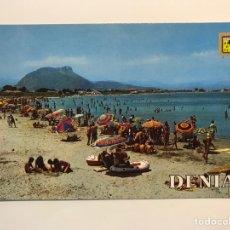 Postales: DENIA (ALICANTE) POSTAL NO.98, PLAYA DEL PALMAR., EDIC., ESCUDO DE ORO (H.1960?) S/C. Lote 277197583