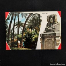 Postales: POSTAL ELCHE. ESCALINATA DEL PARQUE Y DAMA DE ELCHE (ALICANTE). SIN ESCRIBIR. GARRABELLA Nº 37. Lote 277253748