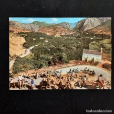 Postales: POSTAL VALLE DEL ALGAR. OASIS DE LA COSTA BLANCA (ALICANTE). CIRCULADA 1971. ARRIBAS 2132. Lote 277257338