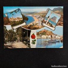Postales: POSTAL COSTA BLANCA BENIDORM ALTEA PEÑON DE IFACH DENIA ALICANTE. CIRCULADA 1972. PERGAMINO 3672. Lote 277258063