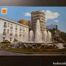 Postales: ALICANTE FUENTE DE LA EXPLANADA Y CASTILLO. Lote 277301673