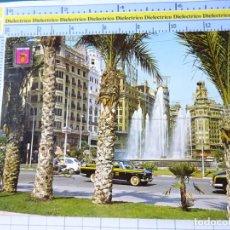 Postales: POSTAL DE VALENCIA. AÑO 1966. PLAZA DEL CAUDILLO. COCHES TAXI SEAT 600 1500. 845. Lote 277647608