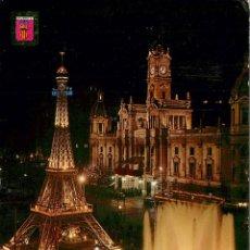 Postales: EM1288 VALENCIA PLAZA DEL CAUDILLO EN FALLAS 1966 ESCUDO DE ORO Nº1074. Lote 277677723