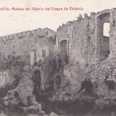 Postales: VALENCIA, JATIVA CASTILLO RUINAS PALACIO DUQUE CALABRIA. ED. ENRIQUE MARTINEZ BELLVER. SIN CIRCULAR. Lote 278409193