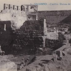 Postales: VALENCIA, SAGUNTO CASTILLO RUINAS ACRÓPOLIS. ED. JOSE PELLICER Nº 3, FOTO J. NACHER. FOTOGRAFICA. Lote 278410018