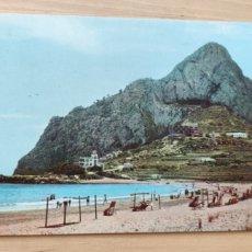 Postales: POSTAL PLAYA LA FOSA Y PEÑÓN DE IFACH. CALPE (ALICANTE). Lote 278410778