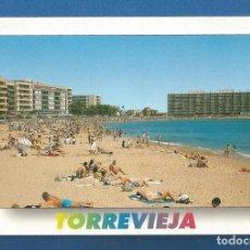 Postales: POSTAL CIRCULADA TORREVIEJA 25 (ALICANTE) PLAYA DE LOS LOCOS EDITA POSTALES HERMANOS GALIANA. Lote 278630193