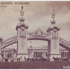 Postales: VALENCIA: EXPOSICIÓN REGIONAL VALENCIANA. ARCO DE ENTRADA F.C. CIRCULADA (1909). Lote 279372598