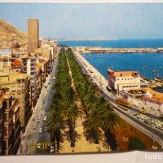 Postales: POSTAL ALICANTE -EXPLANADA PUERTO CIRCULADA. Lote 279456443