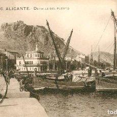 Postales: EA494 ALICANTE - DETALLE DEL PUERTO - Nº26 CIRCULADA 1921. Lote 279563243