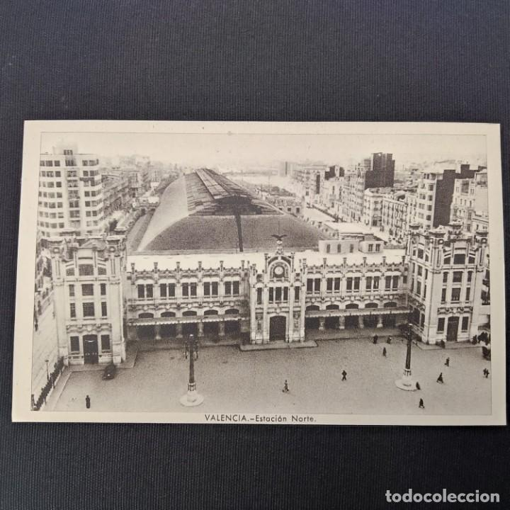 ANTIGUA POSTAL HUECOGRABADO VALENCIA JDP - ESTACIÓN NORTE (AÑOS 40 O 50) (Postales - España - Comunidad Valenciana Moderna (desde 1940))