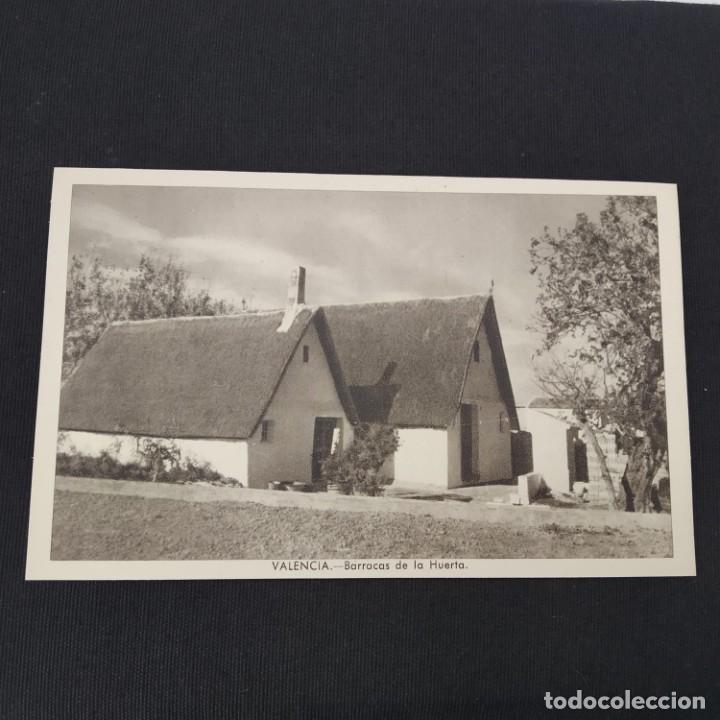 ANTIGUA POSTAL HUECOGRABADO VALENCIA JDP - BARRACAS DE LA HUERTA (AÑOS 40 O 50) (Postales - España - Comunidad Valenciana Moderna (desde 1940))