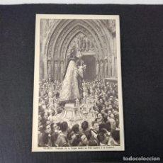 Postales: ANTIGUA POSTAL HUECOGRABADO VALENCIA JDP - TRASLADO DE LA VIRGEN DESDE SU REAL CAPILLA A LA CATEDRAL. Lote 285469998