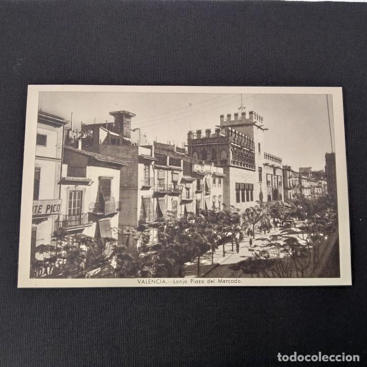 ANTIGUA POSTAL HUECOGRABADO VALENCIA JDP - LONJA PLAZA DEL MERCADO (AÑOS 40 O 50) (Postales - España - Comunidad Valenciana Moderna (desde 1940))