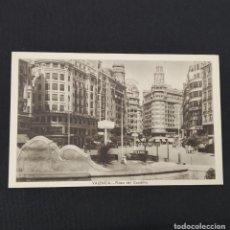 Postales: ANTIGUA POSTAL HUECOGRABADO VALENCIA JDP - PLAZA DEL CAUDILLO. (AÑOS 40 O 50). Lote 285471738
