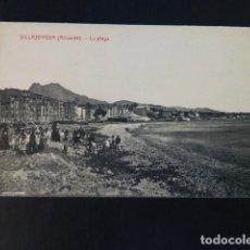 Postales: VILLAJOYOSA ALICANTE LA PLAYA. Lote 285996333
