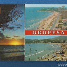 Postales: POSTAL CIRCULADA OROPESA DE MAR 126 CASTELLON EDITA ESCUDO DE ORO. Lote 287935588