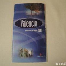 Postales: VALENCIA, PLANO CALLEJERO ACTUALIZADO 2001. NUEVO. EDITA: AYUNTAMENT DE VALENCIA.. Lote 288200153