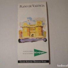 Postales: PLANO DE VALENCIA. AÑOS 2000 A 2002 APROXIMADAMENTE. NUEVO.. Lote 288203293