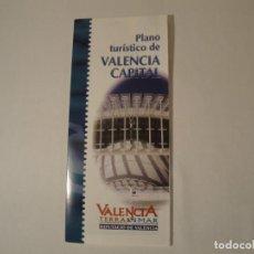 Postales: PLANO TURÍSTICO DE VALENCIA CAPITAL. AÑO 1999. EDITA: DIPUTACIÓ DE VALENCIA. NUEVO.. Lote 288209028