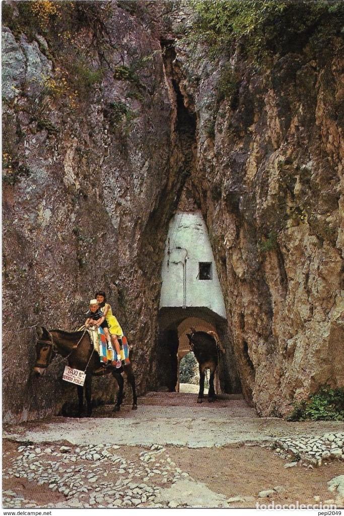 *** A1278 - POSTAL - CASTELL DE GUADALEST - TUNEL DE ENTRADA AL PUEBLO (Postales - España - Comunidad Valenciana Moderna (desde 1940))