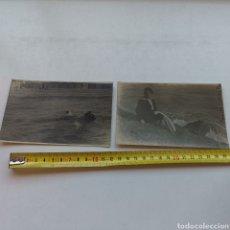 Postales: 2 FOTOGRAFÍAS DE LA PLAYA Y BAÑOS. UNA DE CASTELLÓ DE LA PLANA Y LA OTRA PROBABLEMENTE TAMBIÉN. 1919. Lote 289386218