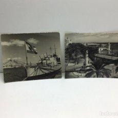 Postales: LOTE POSTALES FOTOGRAFICAS DE ALICANTE - PUERTO Y CLUB DE REGATAS - FOTO ALFONSO SANCHEZ. Lote 289887063