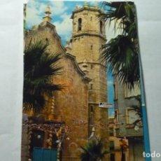 Cartoline: POSTAL BENICARLO IGLESIA ARCIPRESTAL Y TORRE CAMPANARIO CIRCULADA -CM. Lote 290043483